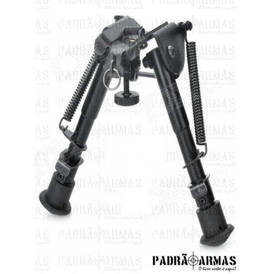 Bipé retrátil tático para carabina ou rifle
